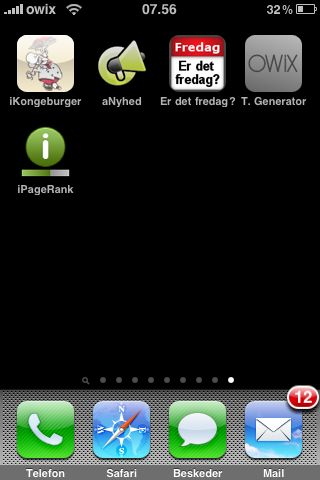 PageRank på iPod touch