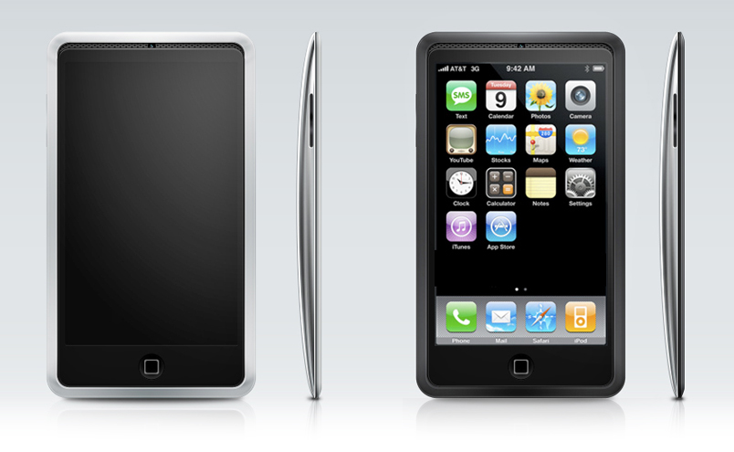 iPhone 4 mockup iPod Touch look