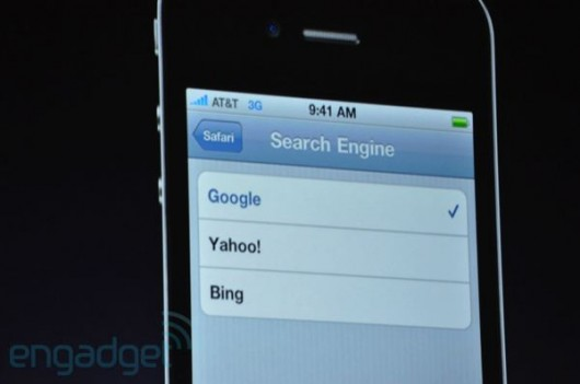 iPhone med Bing