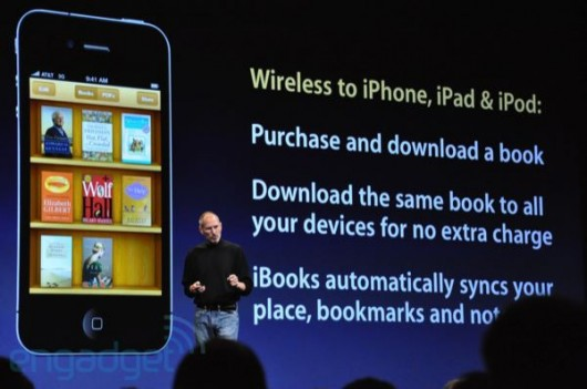 iBooks synkroniserer med iPad og iPod touch