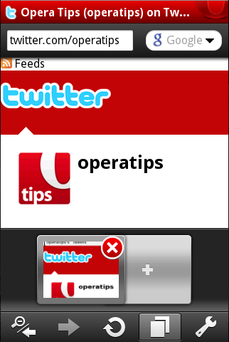 Opera Tabs iPhone